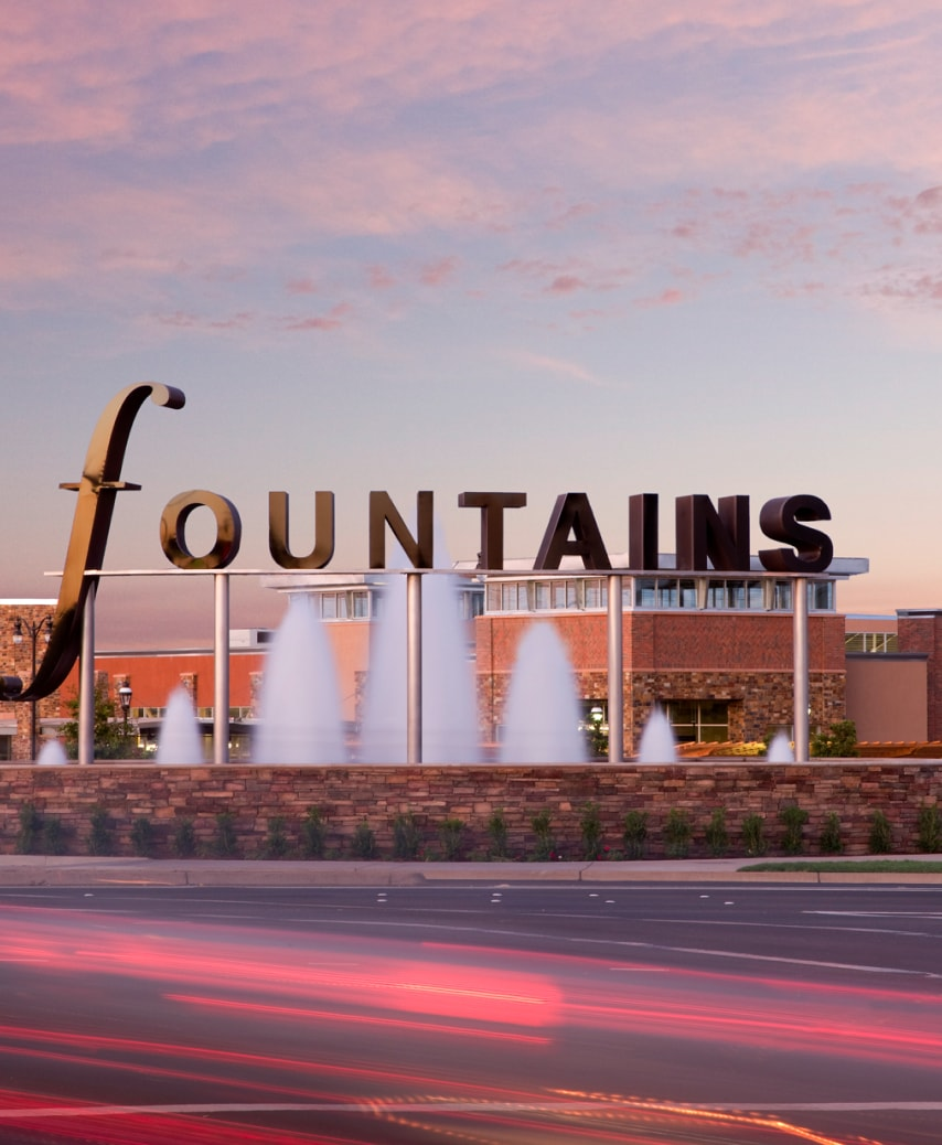 fountains signage