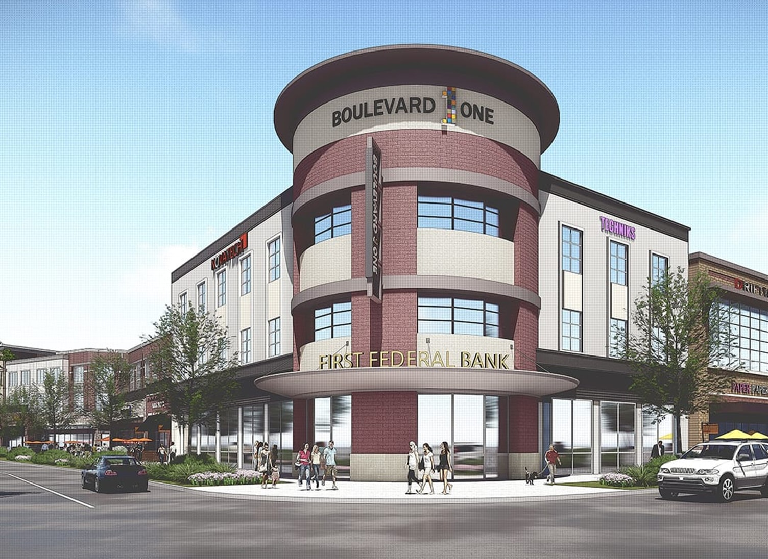 rendering of boulevard one