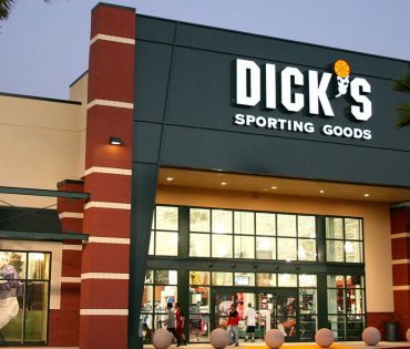 dick's sporting goods entrance with palm trees