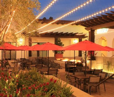 patio with lights at rancho town center