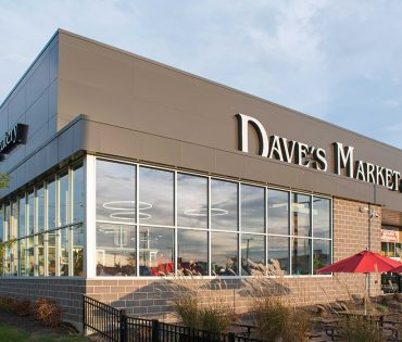 close-up of Dave's Market exterior