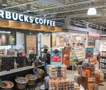 starbucks coffee inside of market district